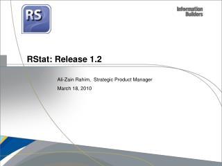 RStat: Release 1.2