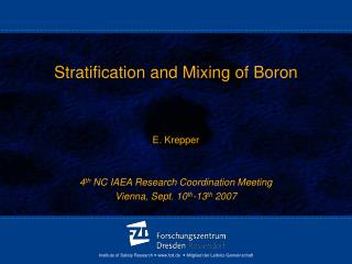 Stratification and Mixing of Boron