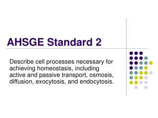 AHSGE Standard 2
