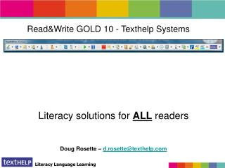 Read&Write GOLD 10 - Texthelp Systems
