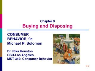 Chapter 9 Buying and Disposing