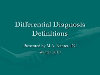 Differential Diagnosis Definitions