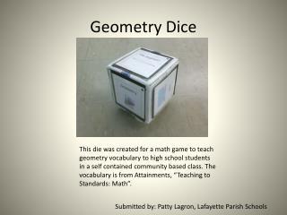 Geometry Dice