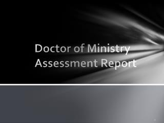 Doctor of Ministry Assessment Report