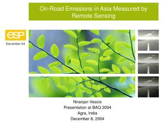 On-Road Emissions in Asia Measured by Remote Sensing
