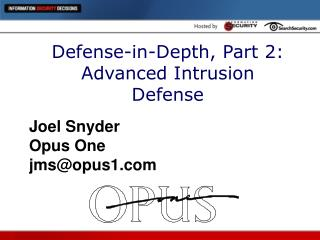 Defense-in-Depth, Part 2: Advanced Intrusion Defense