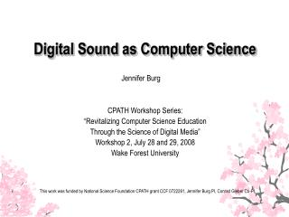 Digital Sound as Computer Science
