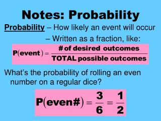 Notes: Probability