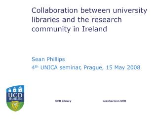 Collaboration between university libraries and the research community in Ireland