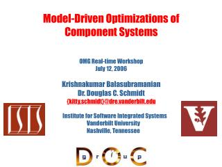 Model-Driven Optimizations of Component Systems