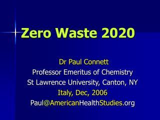 Zero Waste 2020