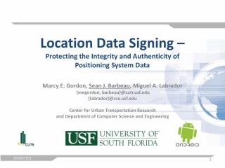 Location Data Signing  –  Protecting the Integrity and Authenticity of  Positioning System Data