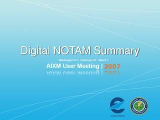 Digital NOTAM Summary