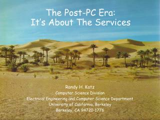 The Post-PC Era: It's About The Services