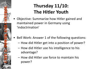 Thursday 11/10: The Hitler Youth