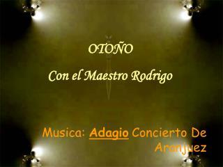 CONCIERTO DE ARANJUEZMusica: Adagio Concierto De Aranjuez