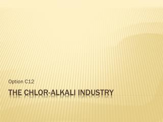The  Chlor -Alkali Industry