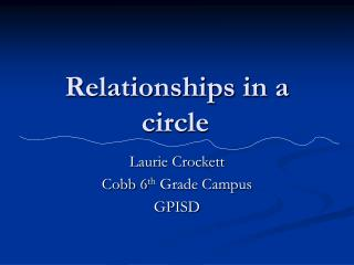 Relationships in a circle