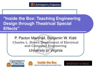 """Inside the Box: Teaching Engineering Design through Theatrical Special Effects"""