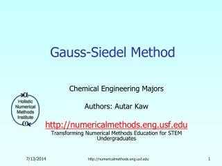 Gauss-Siedel Method