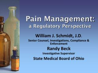 Pain Management: a Regulatory Perspective