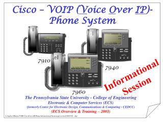 Cisco – VOIP ( V oice  O ver  IP )- Phone System