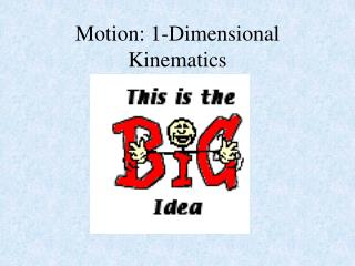 Motion: 1-Dimensional  Kinematics