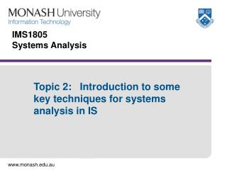 IMS1805 Systems Analysis