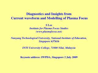 Keynote address: IWPDA, Singapore 2 July 2009