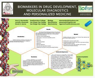 Biomarkers in Drug Development,  Molecular Diagnostics  and Personalized Medicine