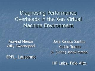 Diagnosing Performance Overheads in the Xen Virtual Machine Environment