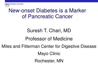 New-onset Diabetes is a Marker of Pancreatic Cancer