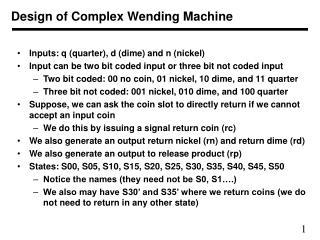 Design of Complex Wending Machine