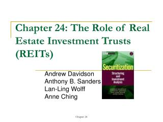 Chapter 24: The Role of Real Estate Investment Trusts (REITs)