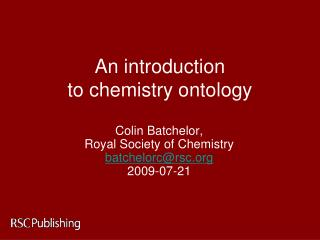 An introduction  to chemistry ontology