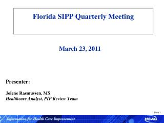 Florida SIPP Quarterly Meeting