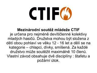 Mezinárodní soutěž mládeže CTIF