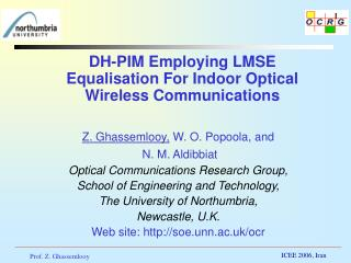 DH-PIM Employing LMSE Equalisation For Indoor Optical Wireless Communications