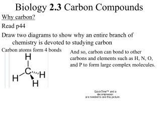 Biology  2.3  Carbon Compounds