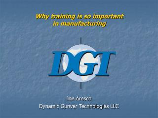 Why training is so important in manufacturing