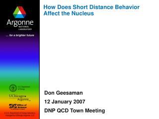 How Does Short Distance Behavior Affect the Nucleus