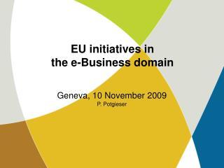 EU initiatives in the e-Business domain