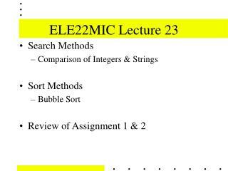 ELE22MIC Lecture 23