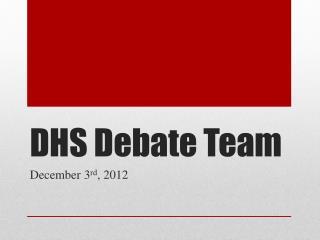 DHS Debate Team