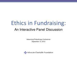 Ethics in Fundraising: