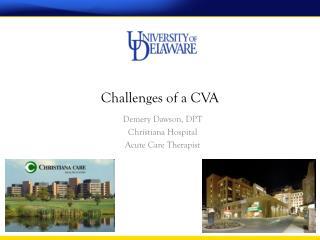 Challenges of a CVA