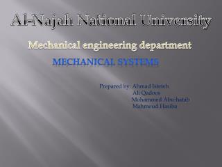 Al- Najah N ational University