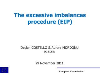 The excessive imbalances procedure (EIP)