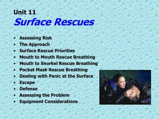Unit 11 Surface Rescues