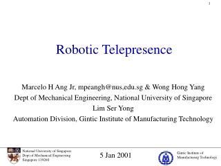 Robotic Telepresence